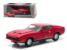 1971 FORD MUSTANG MACH 1 RED 1/43 DIECAST MODEL BY GREENLIGHT EXCLUSIVE 86304