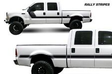 Vinyl Decal Rally Stripes Wrap Kit for Ford F-250/F-350 Truck 99-06 Matte Black