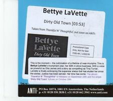 (DQ96) Bettye LaVette, Dirty Old Town - 2012 DJ CD