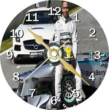 Lewis Hamilton Novelty Cd Clock Can be personalised