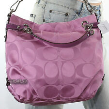 NWT Coach Signature Brooke Shoulder Bag Hand Bag Satchel F17183 Rose New RARE
