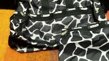 LeSportsac Medium Weekender W/ Pouch Travel Bag purse crossbody Black/white.