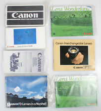 CANON PRODUCT AND LENS GUIDES LITERATURE LARGE LOT