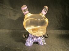 "Custom 3"" Kidrobot Agent K Dunny by Rsin Clear Resin Head 1/1 Rare Exclusive Pur"