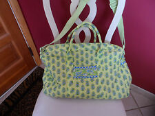 Vera Bradley weekender in retired Citrus Elephant pattern