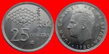 25 PESETAS J.CARLOS I 1980-82 ESPAÑA SC DE CARTUCHO
