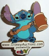 Disney Deals Stitch Holding a Gavel / Hammer with eBay Auctions Logo GWP LE Pin