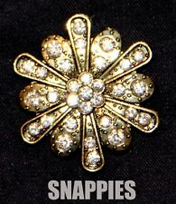 Snappies CRYSTAL GOLD SWAROVSKI MAGNETIC SCARF/PASHMINA/LAPEL PIN NO MORE HOLES!