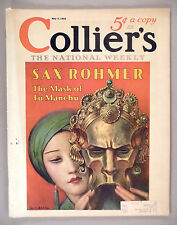 Collier's Magazine - May 7, 1932 -- Mask of Fu Manchu -- W. T. Benda cover