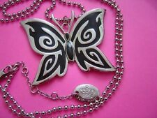 "Tutti Frutti Silver and Black Butterfly 28-30"" Long"