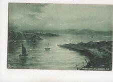 Moonlight At Larbert [Tuck 6359 ] 1905 Emerald Rough Sea Postcard 317b