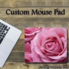 "Pink Roses Custom Cool Mouse Pad 1/8"" thick-7.75""x9.25"" Gaming Mousepad"