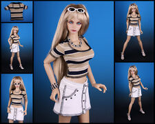 ☆~*T-Shirt #5 striped GOLD*~for Jessica [ EID IPLEHOUSE ]☆~BJD doll~by Anita