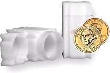 100 Square Coin Tubes Small Dollar - Lock Cap  CoinSafe Tube Stackable Sacajawea