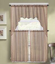brown kitchen curtains | ebay