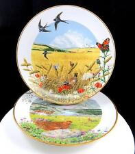 "FRANKLIN MINT P BARRETT 2 COUNTRY YEAR AUGUST SEPTEMBER 9.25"" COLLECTORS PLATES"