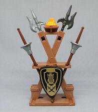 Playmobil (Klicky) ** Waffenständer mit 2x Hellebarde, 2x Lanzen und 1 Schild