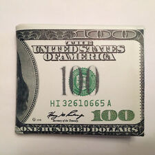 100 Dollar Bill Wallet Bifold Card Holder Purse Hundred $ Pocket Mens American