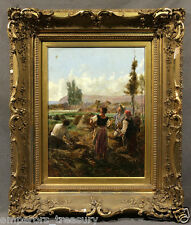 """Late 19th Century French Julien DUPRÉ Oil Painting """"Watching a Balloon"""""""