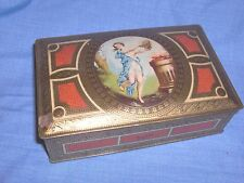 #511 - VINTAGE/ANTIQUE LUXOR CHOCOLATES RECTANGULAR TIN WITH GODDESS, NYMPH