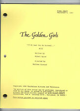 """THE GOLDEN GIRLS script """"If At Last You Do Succeed..."""""""