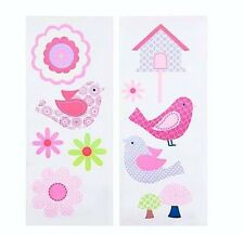 Cloe Wall Decals 2 Sheets 10 x 24 Inch by Just Born Birds Bird House Flowers