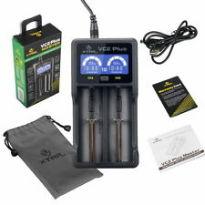 Xtar VC2 Plus Two Channels Battery Charger Charging For 16340 18650 17500 AA AAA