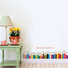 Skirting Baseboard Colourful Removable Wall Stickers Vinyl Kids Room Mural Decor