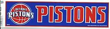 DETROIT PISTONS  NBA LICENSED BUMPER STICKER NEW