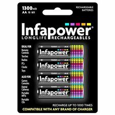 4 Pcs Pack Infapower B003 Rechargeable AA Ni-MH Batteries 1300mAh - Brand New