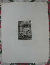 1881 Eau-Forte illustration contes La Fontaine sur Hollande Fragonard T. de Mare