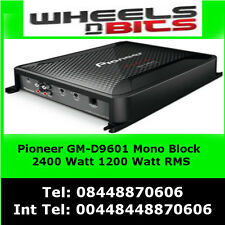 Pioneer GM-D9601 Mono block 2400Watt Class-D Car Amp, with Bass Boost Remote