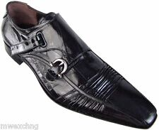 CESARE PACIOTTI NEW EEL MONK STRAP LOAFERS US 12 ITALIAN DESIGNER MENS SHOES