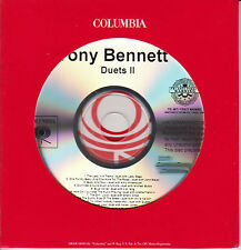 TONY BENNETT Duets II US 17-track promo CD Mariah Carey Lady Gaga Amy Winehouse