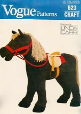 "Vogue 9603 623 18"" Girl Doll Pattern Horse Pony by Linda Carr - Uncut"