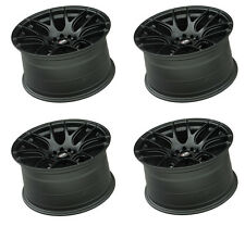 "XXR 530 18"" 8.75J ET33 5x100 5x114.3 FLAT BLACK WIDE RIMS ALLOYS WHEELS Z2670"