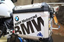 R1200GS F800 F700 Pannier BMW Motorrad Side Case Box Cover Waterproof Sticker x2