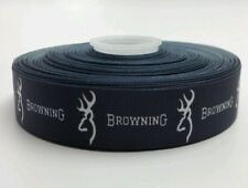 5 Yards Browning 1 inch wide Grosgrain Ribbon