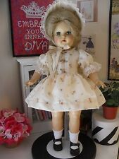 """PRINT DRESS & HAT, UNDIES for P-92 19"""" TONI OR RAVING BEAUTY by SSO DOLL CLOTHES"""