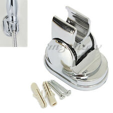 Adjustable Hand Shower Head Holder Bracket Bathroom Wall Mounted Chrome Screws