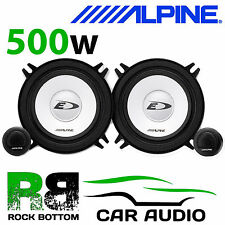 """ALPINE PEUGEOT 106 1998 On 5.25"""" 13cm 500 W Car Component Front Door Speakers"""