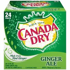 Canada Dry Ginger Ale, 12 oz Can (Pack of 24)