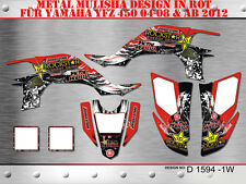 SCRUB DEKOR KIT ATV YAMAHA YFZ 450 04-14 GRAPHIC KIT D1594 B