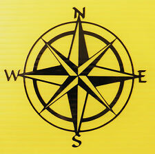 Compass  north south east west stickers/car/van/bumper/window/decal 5305 black