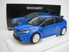 MINICHAMPS 1/18 FORD FOCUS RS STREET BLUE 2010 BLU 100080007 NUOVA NEW