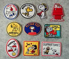 10PCS/SET Mixed lot Snoopy Cartoon Character patch iron sew on kids patches