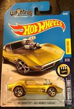 2017 Hot Wheels CUSTOM Super 68 Corvette Gas Monkey Garage w Redline Real Riders