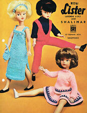 "12"" Teenage  Dolls clothes knitting pattern.  .Laminated  copy. (V Doll 137)"