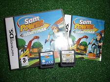 2 NINTENDO DS NDS DSL DSi GAMES SAM POWER HANDYMAN COMPLETE + POLICEMAN