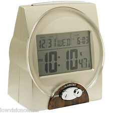 Talking Atomic Alarm Clock Time Month Date Loud Voice Low Vision and Blind